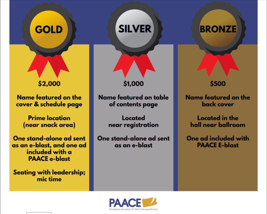 PAACE Sponsorship Level